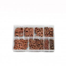 ASSORTED RED FIBRE WASHERS (METRIC)